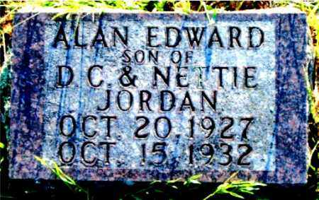 JORDAN, ALAN EDWARD - Boone County, Arkansas | ALAN EDWARD JORDAN - Arkansas Gravestone Photos