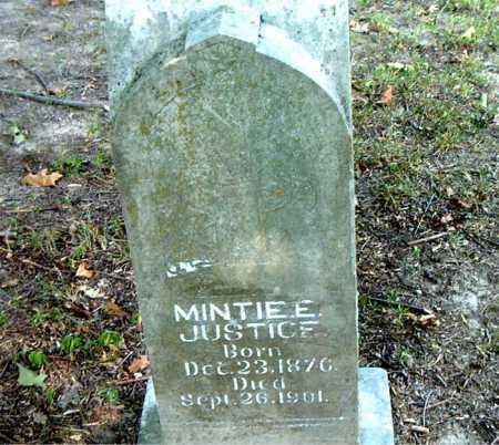JUSTICE, MINTIE E. - Boone County, Arkansas | MINTIE E. JUSTICE - Arkansas Gravestone Photos