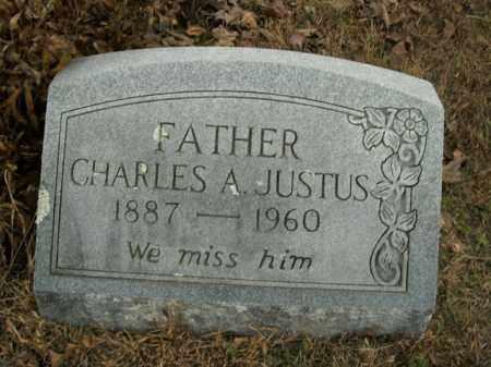 JUSTUS, CHARLES A. - Boone County, Arkansas | CHARLES A. JUSTUS - Arkansas Gravestone Photos