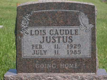 CAUDLE JUSTUS, LOIS - Boone County, Arkansas | LOIS CAUDLE JUSTUS - Arkansas Gravestone Photos