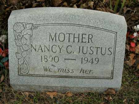JUSTUS, NANCY CAROLINE - Boone County, Arkansas | NANCY CAROLINE JUSTUS - Arkansas Gravestone Photos