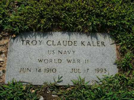 KALER  (VETERAN WWII), TROY CLAUDE - Boone County, Arkansas | TROY CLAUDE KALER  (VETERAN WWII) - Arkansas Gravestone Photos