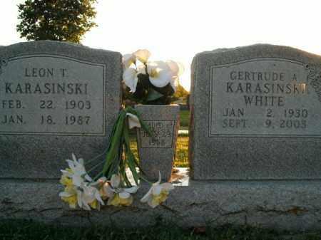 WHITE, GERTRUDE A. KARASINSKI - Boone County, Arkansas | GERTRUDE A. KARASINSKI WHITE - Arkansas Gravestone Photos