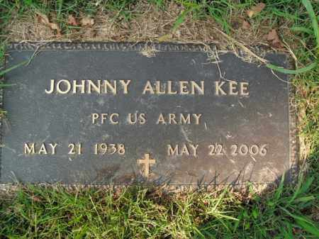 KEE  (VETERAN), JOHNNY ALLEN - Boone County, Arkansas | JOHNNY ALLEN KEE  (VETERAN) - Arkansas Gravestone Photos