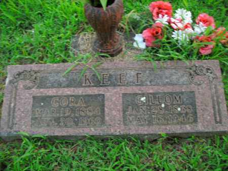 KEEF, GILLOM - Boone County, Arkansas | GILLOM KEEF - Arkansas Gravestone Photos