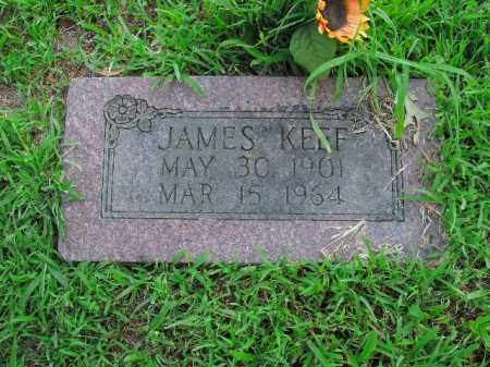 KEEF, JAMES - Boone County, Arkansas | JAMES KEEF - Arkansas Gravestone Photos