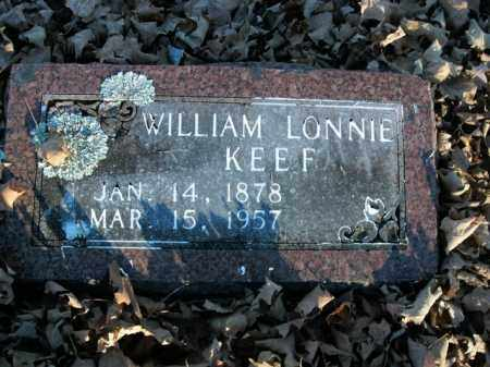KEEF, WILLIAM LONNIE - Boone County, Arkansas | WILLIAM LONNIE KEEF - Arkansas Gravestone Photos