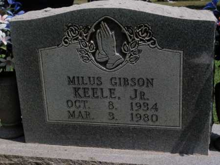 KEELE, JR, MILUS GIBSON - Boone County, Arkansas | MILUS GIBSON KEELE, JR - Arkansas Gravestone Photos