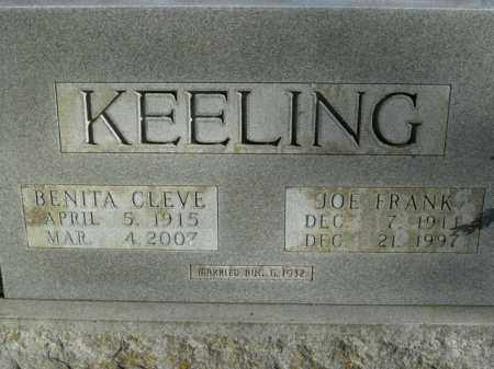 KEELING, BENITA CLEVE - Boone County, Arkansas | BENITA CLEVE KEELING - Arkansas Gravestone Photos