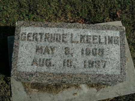 KEELING, GERTRUDE L. - Boone County, Arkansas | GERTRUDE L. KEELING - Arkansas Gravestone Photos