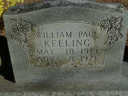 KEELING, WILLIAM PAUL - Boone County, Arkansas | WILLIAM PAUL KEELING - Arkansas Gravestone Photos