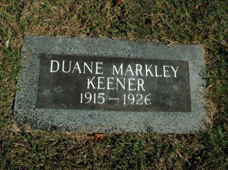 KEENER, DUANE MARKLEY - Boone County, Arkansas | DUANE MARKLEY KEENER - Arkansas Gravestone Photos