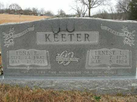 KEETER, EDNA E. - Boone County, Arkansas | EDNA E. KEETER - Arkansas Gravestone Photos