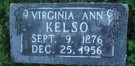 KELSO, VIRGINIA ANN - Boone County, Arkansas | VIRGINIA ANN KELSO - Arkansas Gravestone Photos