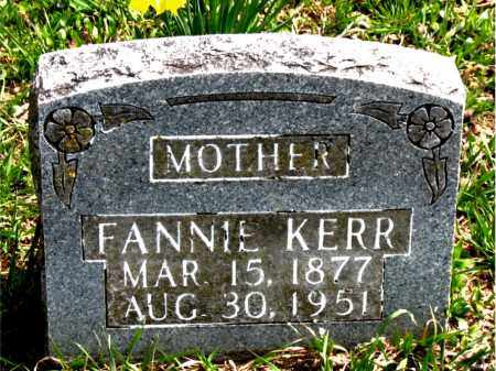 KERR, FANNIE - Boone County, Arkansas | FANNIE KERR - Arkansas Gravestone Photos