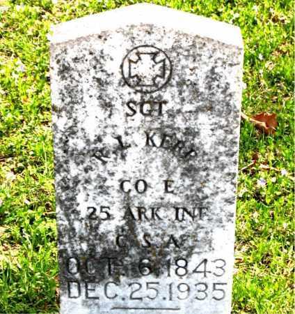 KERR  (VETERAN CSA), R.  L. - Boone County, Arkansas | R.  L. KERR  (VETERAN CSA) - Arkansas Gravestone Photos