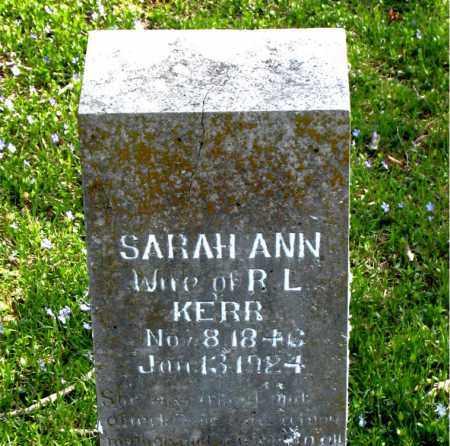 KERR, SARAH ANN - Boone County, Arkansas | SARAH ANN KERR - Arkansas Gravestone Photos