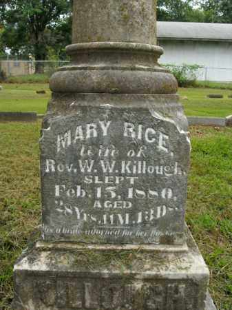 RICE KILLOUGH, MARY - Boone County, Arkansas | MARY RICE KILLOUGH - Arkansas Gravestone Photos