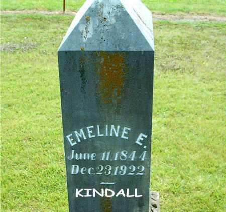 KINDALL, EMELINE  E. - Boone County, Arkansas | EMELINE  E. KINDALL - Arkansas Gravestone Photos