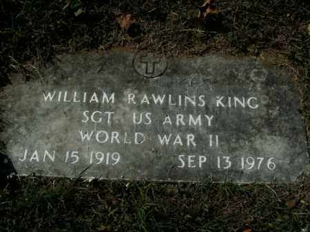 KING  (VETERAN WWII), WILLIAM RAWLINS - Boone County, Arkansas | WILLIAM RAWLINS KING  (VETERAN WWII) - Arkansas Gravestone Photos