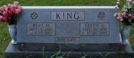 KING, BERT M. - Boone County, Arkansas | BERT M. KING - Arkansas Gravestone Photos