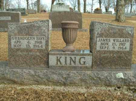 KING, JAMES WILLARD - Boone County, Arkansas | JAMES WILLARD KING - Arkansas Gravestone Photos