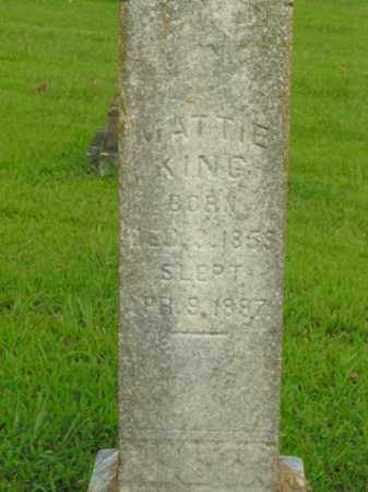KING, MATTIE - Boone County, Arkansas | MATTIE KING - Arkansas Gravestone Photos