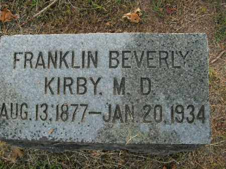 KIRBY, FRANKLIN BEVERLY (DOCTOR) - Boone County, Arkansas | FRANKLIN BEVERLY (DOCTOR) KIRBY - Arkansas Gravestone Photos
