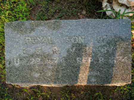 KIRBY, ROYAL - Boone County, Arkansas | ROYAL KIRBY - Arkansas Gravestone Photos