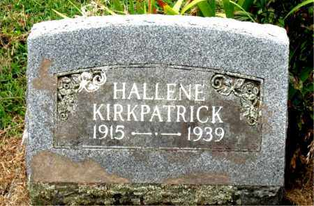 KIRKPATRICK, HALLENE - Boone County, Arkansas | HALLENE KIRKPATRICK - Arkansas Gravestone Photos