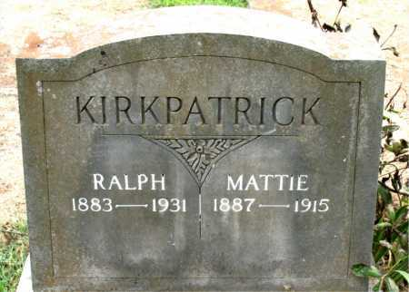 KIRKPATRICK, MATTIE - Boone County, Arkansas | MATTIE KIRKPATRICK - Arkansas Gravestone Photos