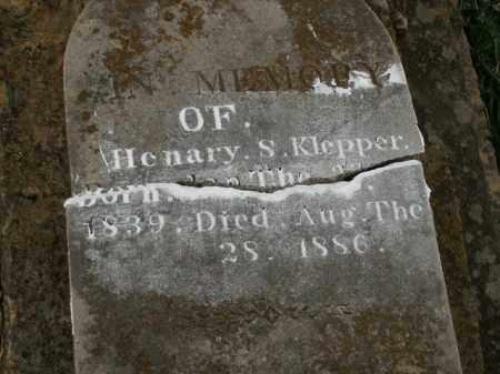 KLEPPER, HENARY S. - Boone County, Arkansas | HENARY S. KLEPPER - Arkansas Gravestone Photos