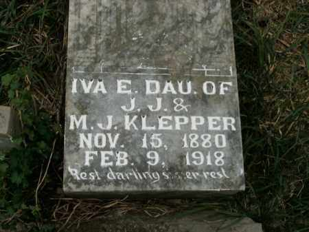 KLEPPER, IVA E. - Boone County, Arkansas | IVA E. KLEPPER - Arkansas Gravestone Photos