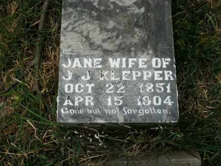 KLEPPER, MALINDA JANE - Boone County, Arkansas | MALINDA JANE KLEPPER - Arkansas Gravestone Photos