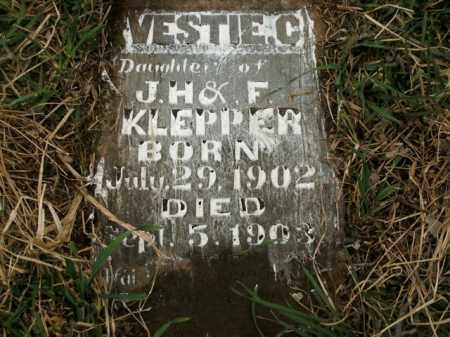 KLEPPER, VESTIE C. - Boone County, Arkansas | VESTIE C. KLEPPER - Arkansas Gravestone Photos