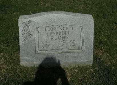 KLOHR, FLORENCE J. - Boone County, Arkansas | FLORENCE J. KLOHR - Arkansas Gravestone Photos