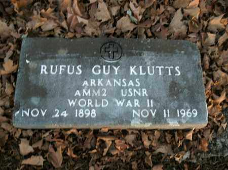 KLUTTS  (VETERAN WWII), RUFUS GUY - Boone County, Arkansas | RUFUS GUY KLUTTS  (VETERAN WWII) - Arkansas Gravestone Photos