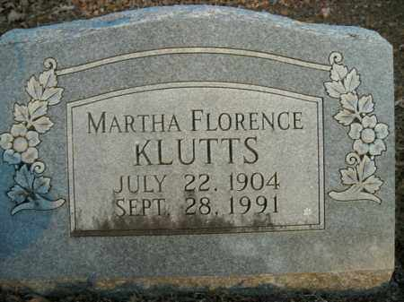 KLUTTS, MARTHA FLORENCE - Boone County, Arkansas | MARTHA FLORENCE KLUTTS - Arkansas Gravestone Photos