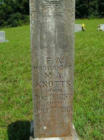 KNOTTS, FLETCHER A. - Boone County, Arkansas | FLETCHER A. KNOTTS - Arkansas Gravestone Photos