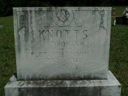 KNOTTS, THOMAS H. - Boone County, Arkansas | THOMAS H. KNOTTS - Arkansas Gravestone Photos