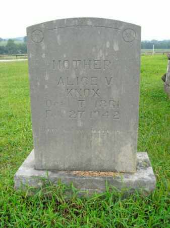 KNOX, ALICE V. - Boone County, Arkansas | ALICE V. KNOX - Arkansas Gravestone Photos