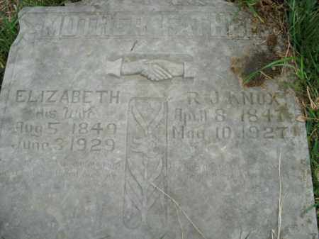 KNOX, ELIZABETH - Boone County, Arkansas | ELIZABETH KNOX - Arkansas Gravestone Photos