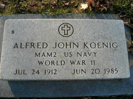 KOENIG  (VETERAN WWII), ALFRED JOHN - Boone County, Arkansas | ALFRED JOHN KOENIG  (VETERAN WWII) - Arkansas Gravestone Photos