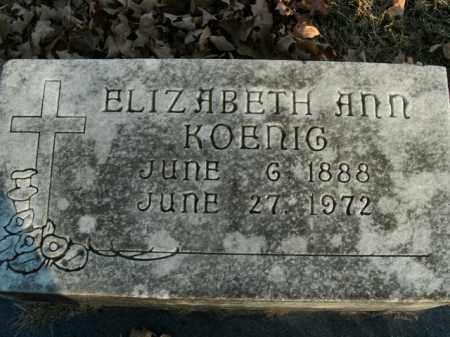 KOENIG, ELIZABETH ANN - Boone County, Arkansas | ELIZABETH ANN KOENIG - Arkansas Gravestone Photos