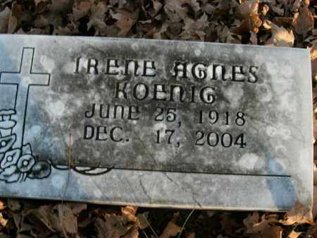 KOENIG, IRENE AGNES - Boone County, Arkansas | IRENE AGNES KOENIG - Arkansas Gravestone Photos
