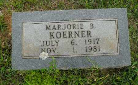 KOERNER, MARJORIE B. - Boone County, Arkansas | MARJORIE B. KOERNER - Arkansas Gravestone Photos