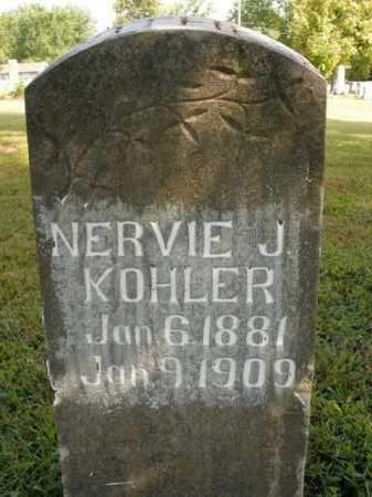 KOHLER, NERVIE J. - Boone County, Arkansas | NERVIE J. KOHLER - Arkansas Gravestone Photos