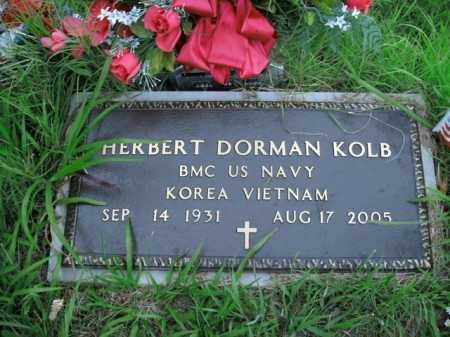 KOLB  (VETERAN 2 WARS), HERBERT DORMAN - Boone County, Arkansas | HERBERT DORMAN KOLB  (VETERAN 2 WARS) - Arkansas Gravestone Photos