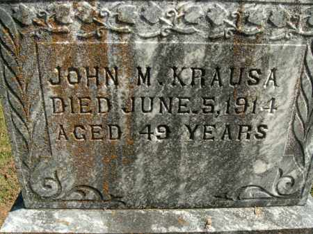 KRAUSA, JOHN M. - Boone County, Arkansas | JOHN M. KRAUSA - Arkansas Gravestone Photos