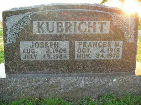 KUBRIGHT, FRANCES M. - Boone County, Arkansas | FRANCES M. KUBRIGHT - Arkansas Gravestone Photos